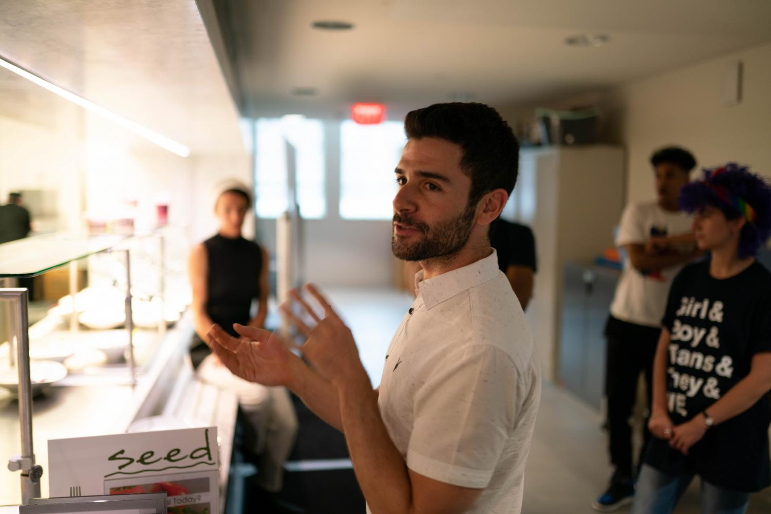 Adam Kantor (Communication '08). Kantor, who has acted in several Broadway shows since graduation, co-founded StoryCourse to bring together food and theater in interactive dining experiences.