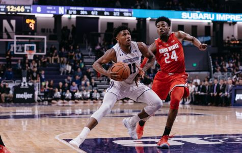 Anthony Gaines drives to the basket. The junior guard will be tasked with guarding the Big Ten's best players this season.