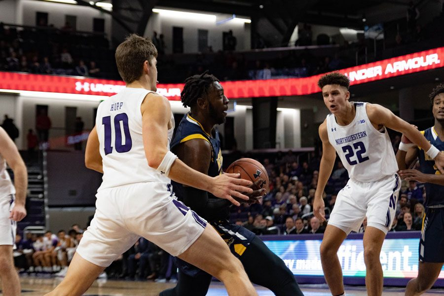 Playing+its+first+season+in+Division+I%2C+Merrimack+rebounded+from+a+20-point+loss+against+Maine+to+beat+Northwestern.