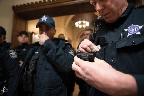 Does Northwestern use student media to discipline protestors?