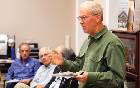 Hal Sprague, the president of Citizens' Greener Evanston. Sprague spoke at the Tuesday meeting of Evanston's City-School Liaison Committee in favor of more committed climate-conscious actions from the city and school districts.