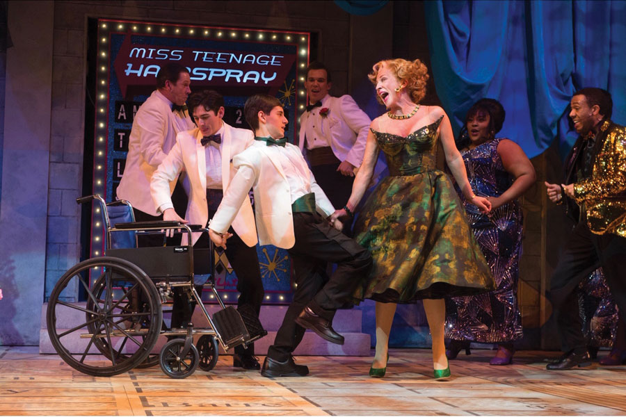"""Luke Hogan Laurenson in the Oregon Shakespeare Festival's 2019 production of """"Hairspray,"""" directed by ITF presenter Christopher Liam Moore. Moore of the production will be speaking at Seesaw Theater's annual Inclusive Theatre Festival this weekend."""