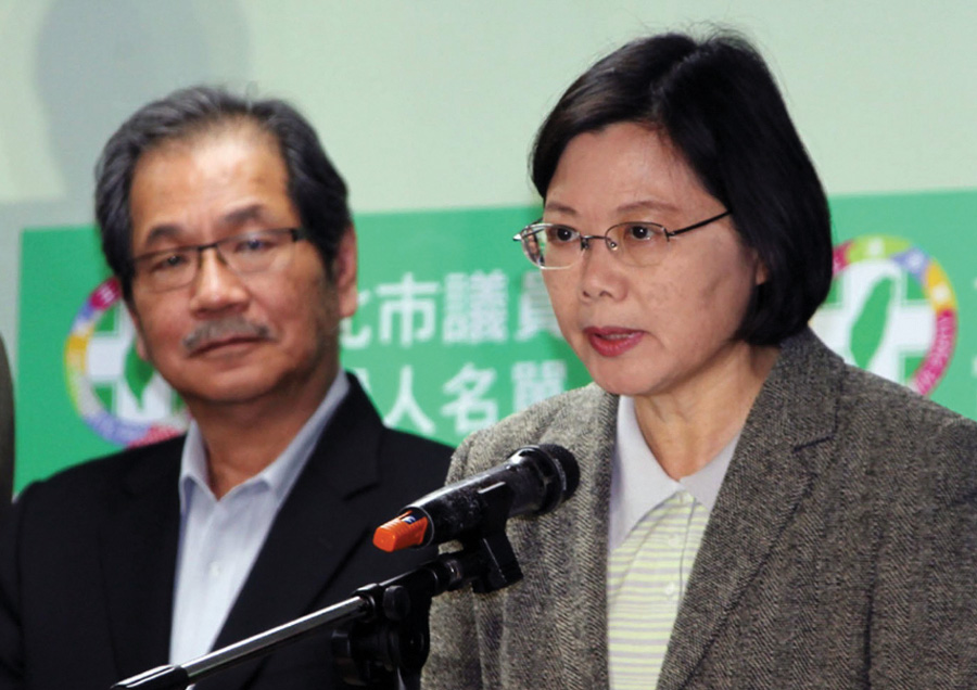 Taiwan Opposition Democratic Progressive Party (DPP) Chairwoman Tsai Ing-Wen November 27, 2010. Tsai  cautions against giving China more leverage over Taiwan.