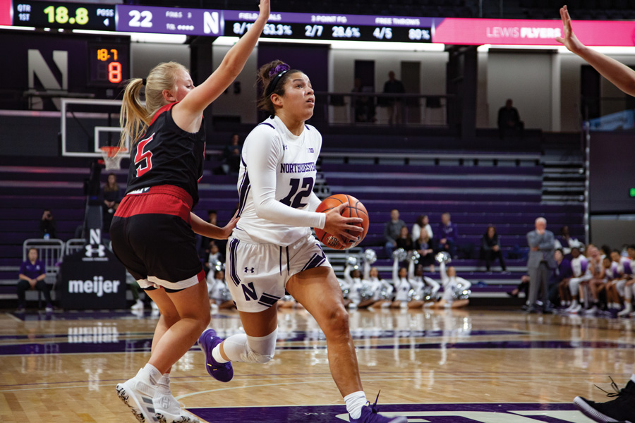 Veronica Burton drives to the basket. The sophomore guard led the team in steals last season.