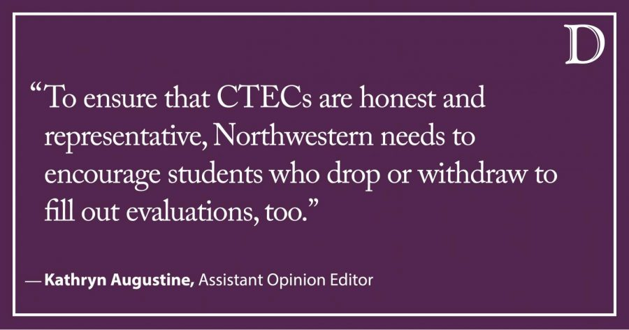 Augustine: Students should be able to complete CTECs for dropped courses