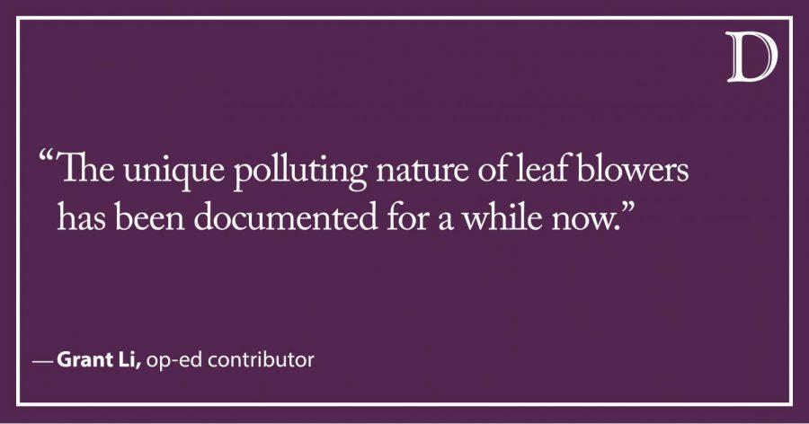Li: Leaf blowers blow