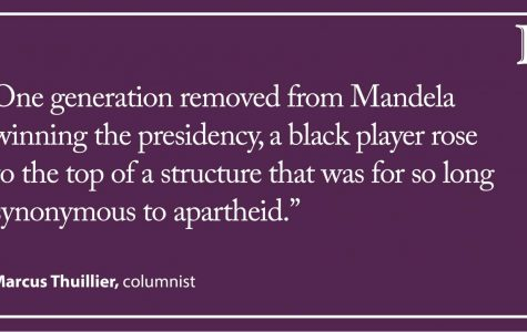 Thuillier: Coming full circle on Nelson Mandela's number 6 jersey