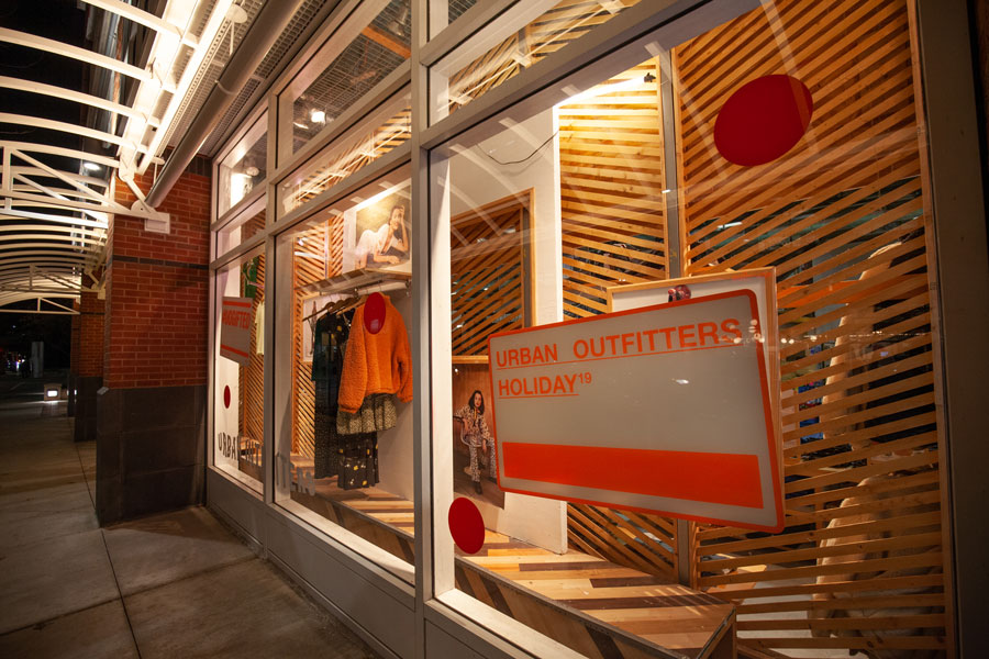 Urban Outfitters in Evanston. The clothing store is one of the biggest in the entire city.
