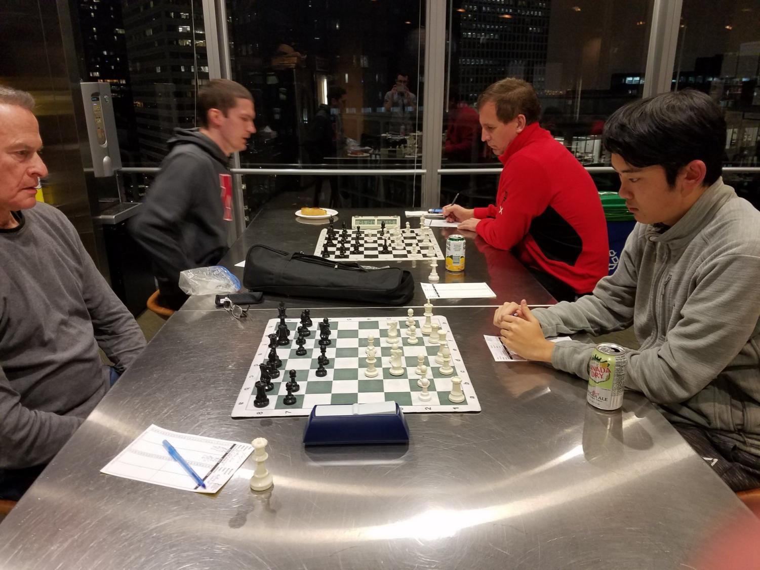 64 Squares, Northwestern's chess club, competes in the Chicago Industrial Chess League against other schools like the University of Chicago and companies like Citadel and Google.