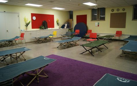 The women's space at the Interfaith Action emergency cold shelter. The shelter is open every night from mid-November through March for the first time since it opened.