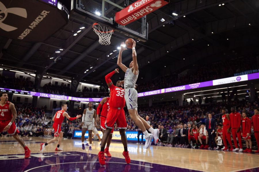 %28Joshua+Hoffman%2F+The+Daily+Northwestern%29.+Pete+Nance+shoots+a+layup.+Northwesterns+offense+struggled+from+the+field+in+a+loss+to+Ohio+State.