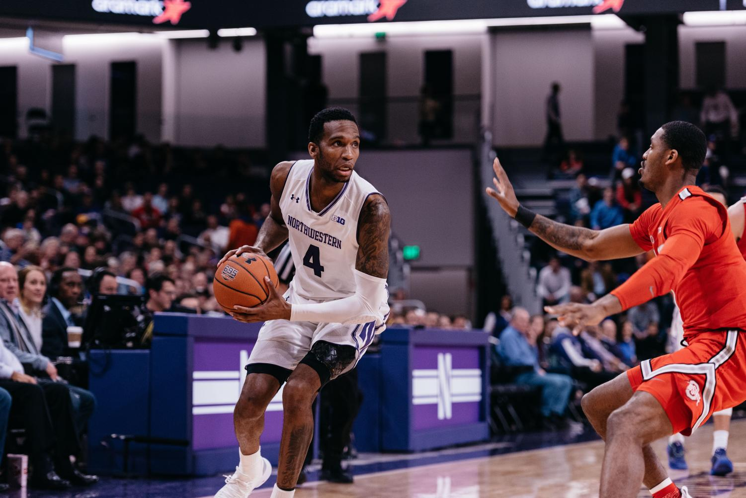 Vic Law sizes up a defender. The Northwestern graduate signed a two-pay contract with the Orlando Magic on Saturday.