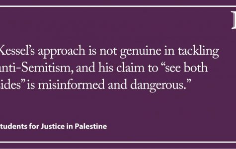 Letter to the Editor: Kessel misses the mark on anti-Semitism