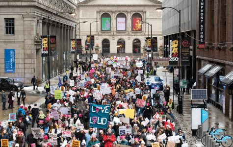 The 2020 Chicago Women's March. Organizers estimated approximately 10,000 people attended the city's first Women's March since 2018.