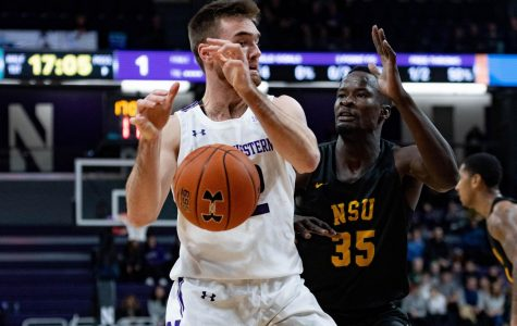 Pat Spencer loses the ball. The graduate transfer guard finished with 22 points on Sunday.