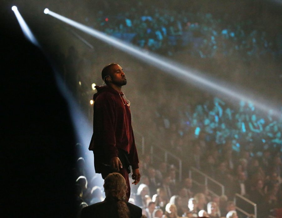 Kanye West performs at the 57th Annual Grammy Awards at Staples Center in Los Angeles on Sunday, Feb. 8, 2015. West is famously from Chicago, along with other popular artists like Chance the Rapper and Common.