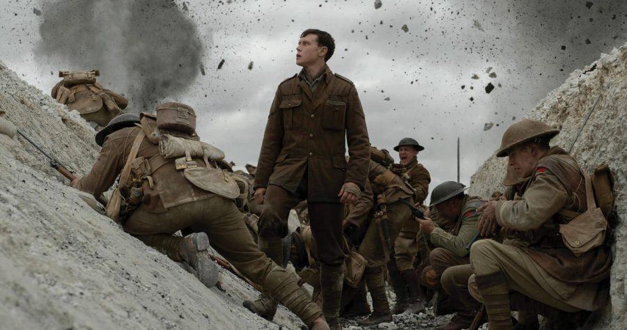 "Corporal Schofield (George MacKay) in ""1917."""