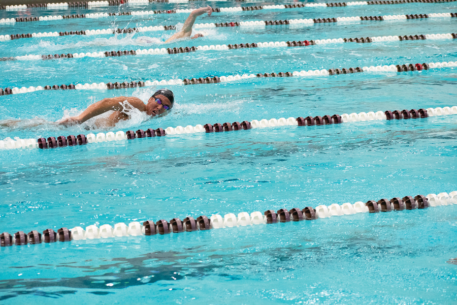 A+Northwestern+swimmer+does+the+freestyle.+The+Wildcats+had+mixed+results+in+two+meets+last+weekend.