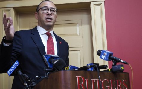 Jonathan Holloway is named Rutgers' 21st president after being approved by the school's Board of Governors on Tuesday, Jan. 21, 2020. Holloway speaks to the media during a press conference after being approved.