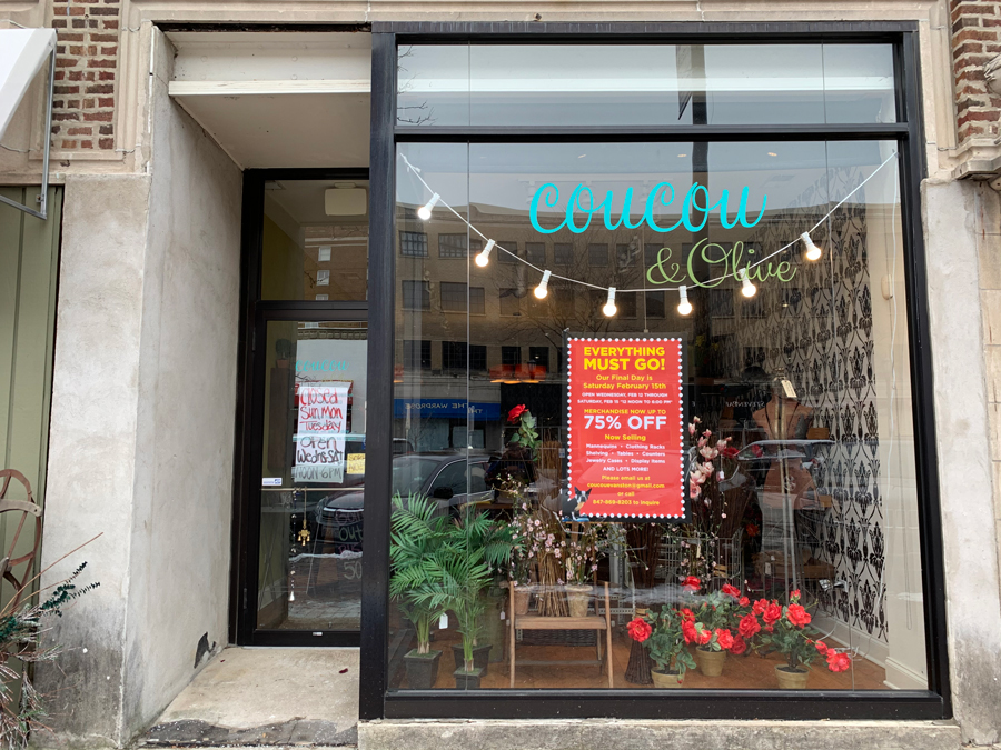 Coucou & Olive closed on Feb. 15. It sold apparel and other items.