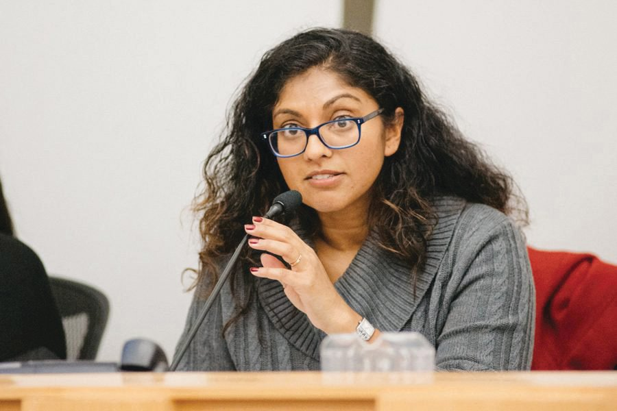 District 65 board president Suni Kartha. Kartha said school officials should consider the implications of the Achievement and Accountability Report on their own schools at January's Evanston/Skokie District 65meeting.