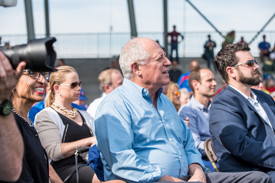 Former Illinois Gov. Pat Quinn attends the grand opening of Kerry Woods Cubs Field in September 2015. Quinn is the Evanston Voter Initiative's legal counsel.