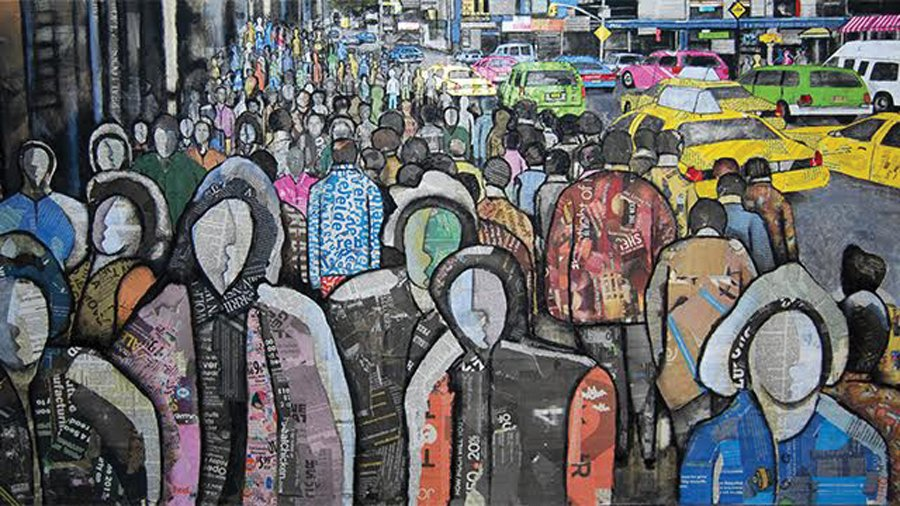 """""""A Cuban in New York"""" by Eduin Fraga. The piece will be on display in Dittmar from Feb. 13 to March 18."""