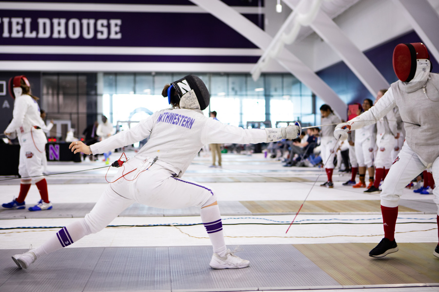 A+Northwestern+fencer+lunges.+The+team+was+unable+to+make+it+to+the+finals+of+the+Midwest+Championships+despite+having+one+of+their+best+seasons+in+recent+years.