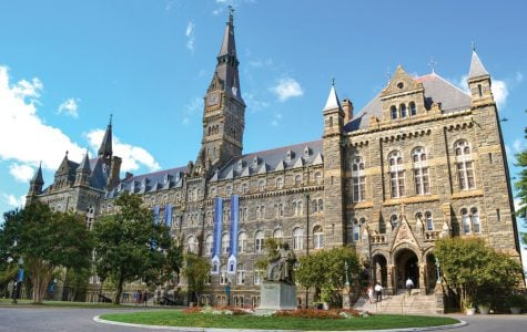 Georgetown University in Washington, D.C. Georgetown's Board of Directors voted this month to fully divest its endowment from fossil fuels after years of action from Fossil Free Georgetown.
