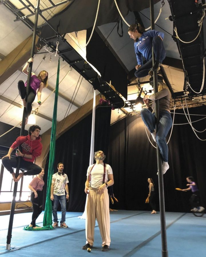 "Actors rehearse ""The Ghost in Gadsden's Garden."" The original circus will open Feb. 22."