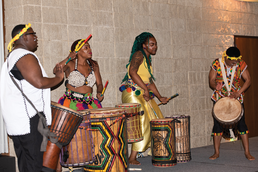 Harambee+was+held+at+Norris+University+Center+on+Friday.+The+event+kicked+off+Black+History+Month+programming+at+NU.