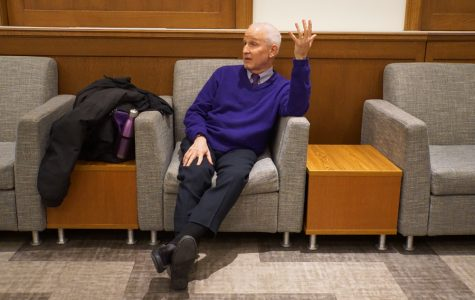 Schapiro joined students and faculty in conversations about ranking, admission applications and University official replacements at this Tuesday's dinner and question-and-answer session.
