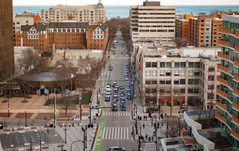 A view of Evanston from above.