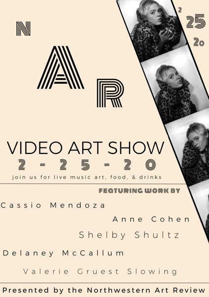 "The poster for ""The Screen Time: Video Art Show."" The event will take place on Feb. 25 in Kresge."