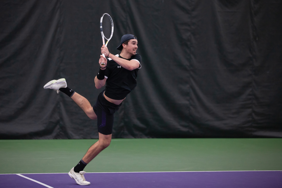 Junior Nick Brookes takes aim against Illinois State. The Cats failed to win a match Sunday against Duke.