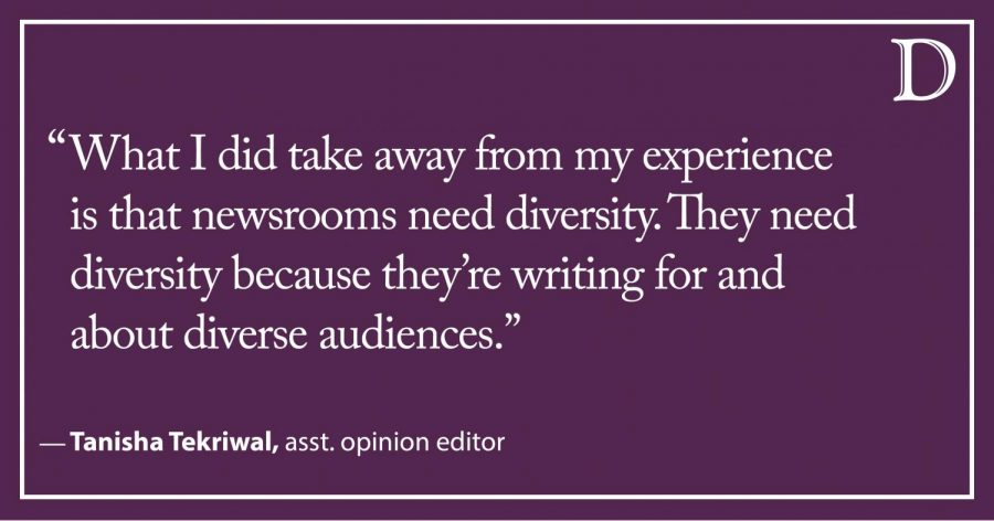 Tekriwal: Diversity has a place in all newsrooms