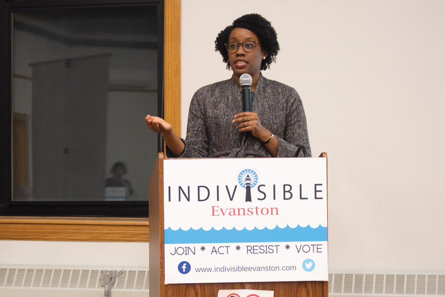U.S. Rep. Lauren Underwood. Underwood was declared the winner of her race against Republican Jim Oberweis.