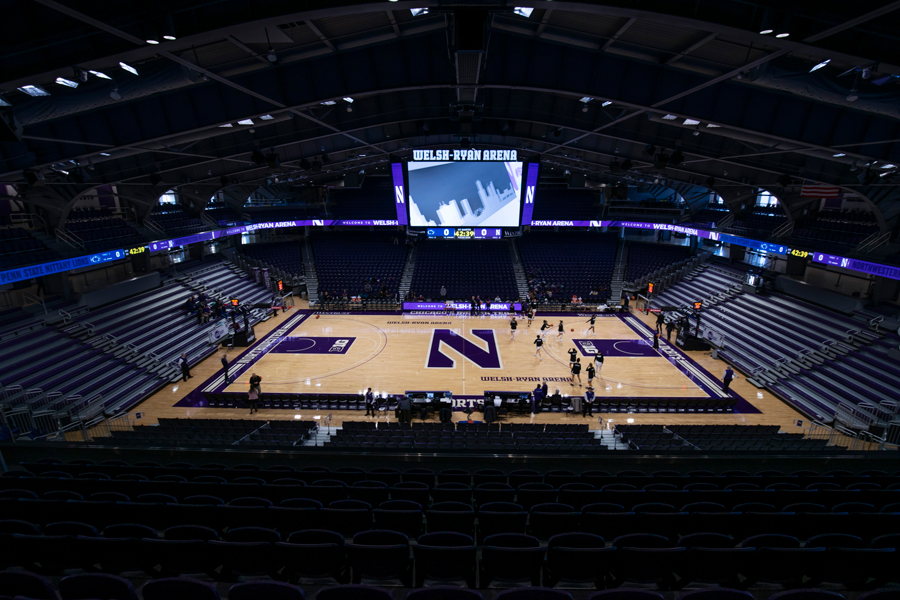 Welsh-Ryan Arena. Northwestern has struggled attracting students to its games this season.