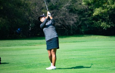 Irene Kim swings. The freshman won her first tournament at the Lady Puerto Rico Classic this weekend.