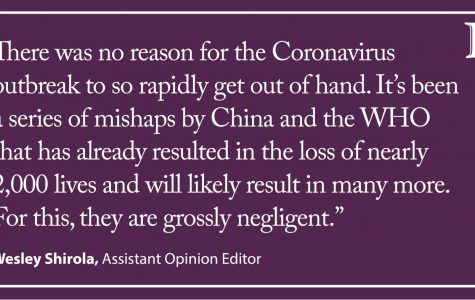 Shirola: China, WHO grossly negligent in coronavirus responses