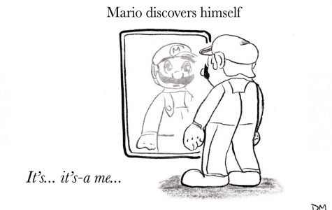 Delaney's Sunday Cartoon: Mario Discovers Himself
