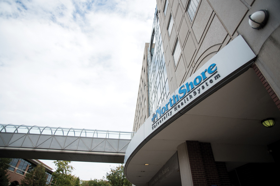 NorthShore University HealthSystem. The organization has been testing about 500 people a day for COVID-19.