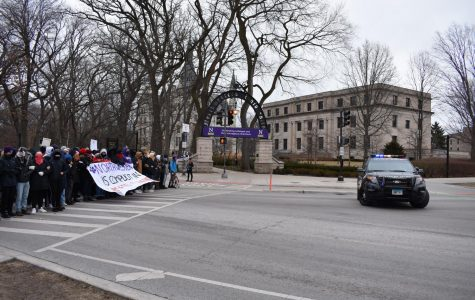 At around 9 a.m. Friday morning, over 60 protesters blocked Sheridan Road to raise awareness for climate injustice and attempt to force more open communication between the Board of Trustees and Fossil Free Northwestern.