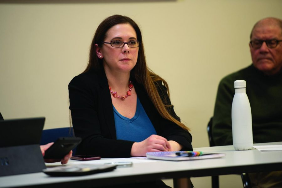 Board of Ethics acting chair Carrie Von Hoff. Hoff will remain on the board in a temporary role until other board members are appointed to serve a full term.