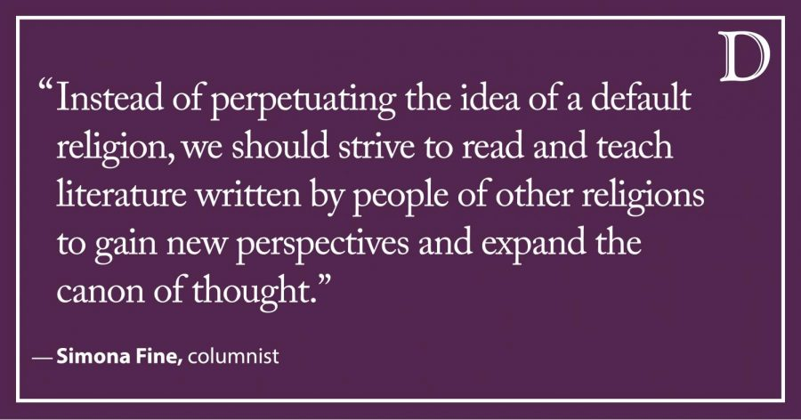 Fine: Literature from a Non-Christian perspective