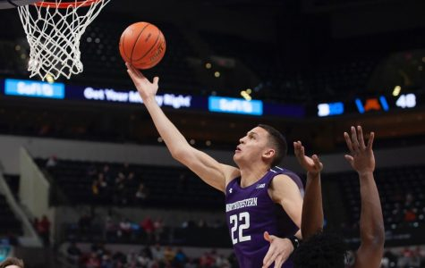 (Joshua Hoffman/ The Daily Northwestern). Pete Nance takes a layup. The sophomore forward led Northwestern in scoring Wednesday.