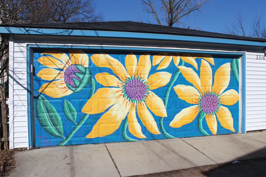 Teresa Parod is a lifelong painter. She paints garage door murals in Evanston.