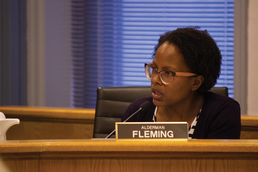 Ald. Cicely Fleming (9th). The city approved a budget with a one percent property tax increase Monday, but Fleming said the city should also draw funding from the University's $1 million Good Neighbor Racial Equity Fund.