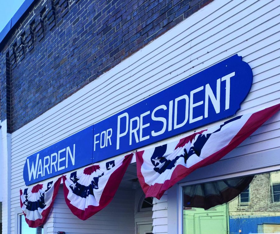Campaign office for U.S. Sen. Elizabeth Warren (D-Mass.) in Indianola, Iowa.