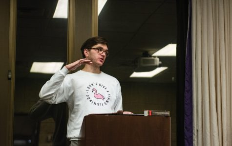 Weinberg sophomore and current speaker of the Senate Matthew Wylie, pictured above, was reelected in an uncontested race.